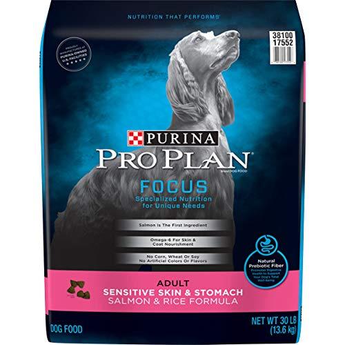 Purina Pro Plan Sensitive Stomach Dry Dog Food, FOCUS Sensitive Skin & Stomach Salmon & Rice Formula - 30 lb. Bag