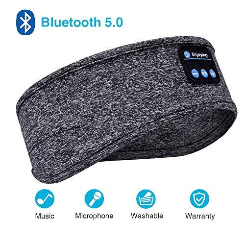 Sleep Headphones, Bluetooth Sleep Headphones,Headband Headphones with Built -in Speakers, Sports Headband with Bluetooth Headphones for Sleeping, Running, Yoga (Grey)