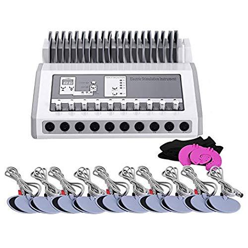 INLOVEARTS Bo-dy SLI-mming Equip-Ment Elec-tric Mu-slce Sti-mulator Elec-Trode Mu-scle Sti-mulation Instru-Ment (Round)