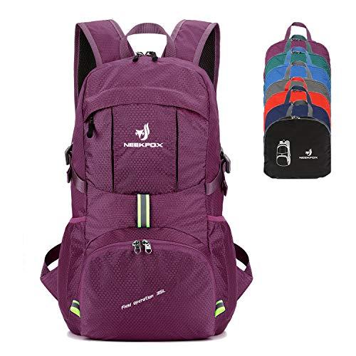 NEEKFOX Packable Lightweight Hiking Daypack 35L Travel Hiking Backpack, Ultralight Foldable Backpack for Women Men