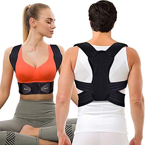 Mercase Posture Corrector for Men,Women and Kids,Comfortable Adjustable Support Back Brace Providing Pain Relief for Neck, Back, Shoulders,Posture Brace (32'-39'Waist L)