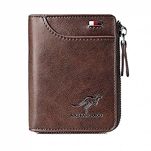 Reshline Men's RFID Blocking Wallet (BROWN)
