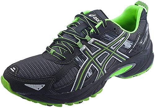 ASICS Men's Gel Venture 5 Trail Running Shoe, (10.5 D(M) US, Castle Rock/Black/Green)