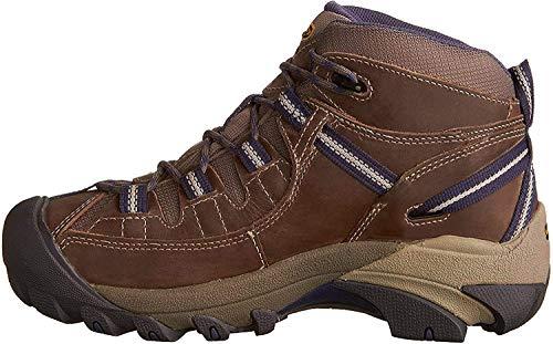 KEEN Women's Targhee 2 Mid Height Waterproof Hiking Boot, Goat/Crown Blue, 8.5 M (Medium) US