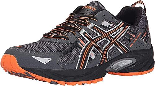 ASICS Men's Gel-Venture 5-M, Carbon/Black/Hot Orange, 10.5 M US