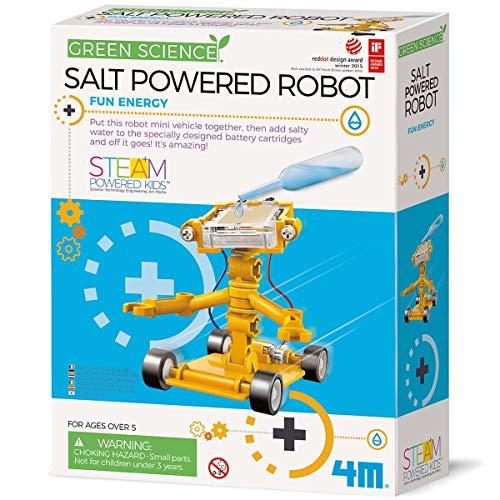 4M Green Science Salt Water Powered Robot Kit - Green Energy Robotics STEM Toys Educational Gift for Kids & Teens, Girls & Boys