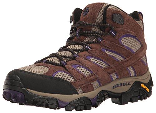 Merrell Women's Moab 2 Vent Mid Hiking Boot, Bracken/Purple, 7 M US