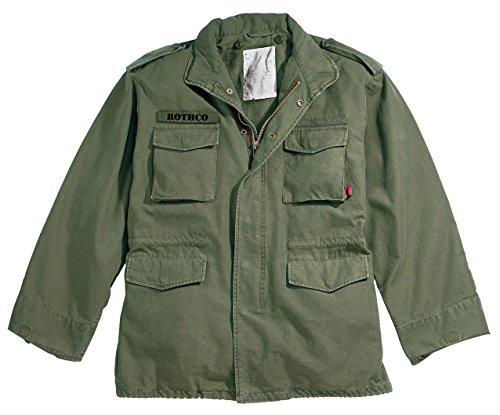 Rothco Vintage M-65 Field Jacket, Olive Drab, Large