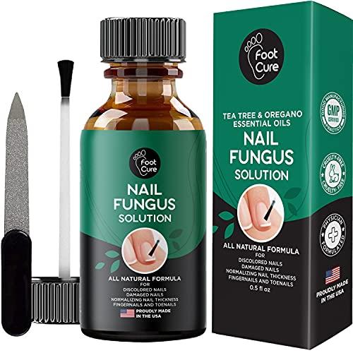 Foot Cure Extra Strong Nail & Toe Fungus Treatment - Made In USA, Best Nail Repair Set, Fungi Fingernail & Toenail Solution, Fix & Renew Damage Fungal Nail, Broken, Cracked & Discolored Nails