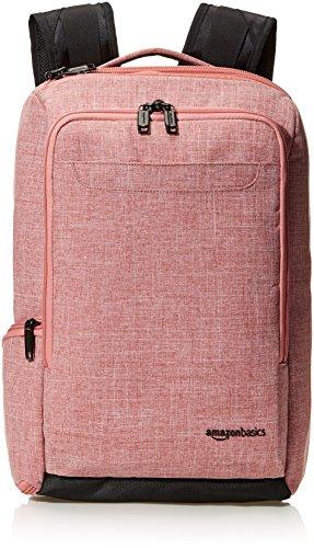 AmazonBasics Slim Carry On Laptop Travel Overnight Backpack - Salmon