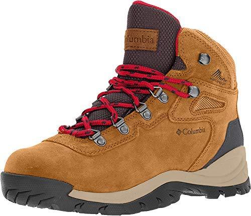 Columbia Women's Newton Ridge Plus Waterproof Amped Hiking Boot, Elk/Mountain Red, 8