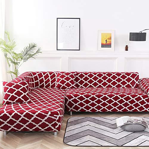 TGVBFG Couch Sofa Slipcover,Elastic Sofa Cover L Shape,Stretch Furniture Cover Pet Dog Sectional Corner Couch Covers Chaise Sofa Cover Couch-d 4 Seaters 235~300cm(93~118inch)