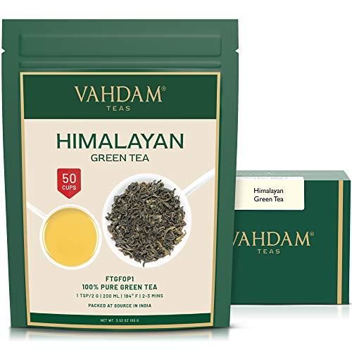VAHDAM, Himalayan Green Tea Leaves (50+ Cups) I 100% NATURAL Green Tea I POWERFUL ANTIOXIDANTS I Best for Detox I Kombucha Tea I Pure Green Tea Loose-Leaf, 3.53 oz
