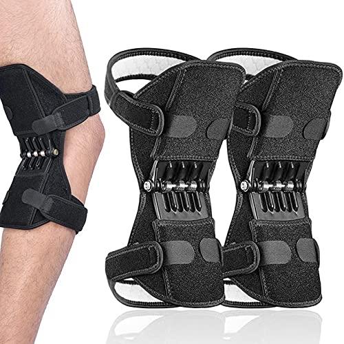 AOLIGO Knee Brace Power 2 Packs Knee Brace Joint Support, Power Knee Stabilizer Pads, Protective Gear Booster with Powerful Springs for Men/Women weak Legs, Arthritis, Meniscus Tear Pain, Fitness and Sport Hiking Climbing