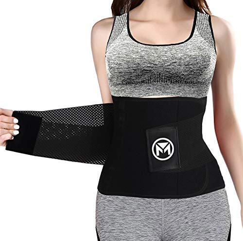 Moolida Waist Trainer Belt for Women Waist Trimmer Weight Loss Workout Fitness Back Support Belts