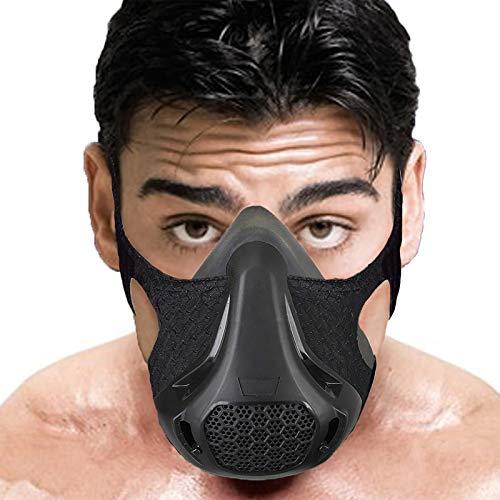 Ivsun Elevation Masks Workout Mask, 24 Breathing Levels Fitness Running Training Sports Mask,Biking,Jogging,Endurance,Resistant,Cardio,Exercise Gym Mask High Altitude Workout Masks (Black-1)