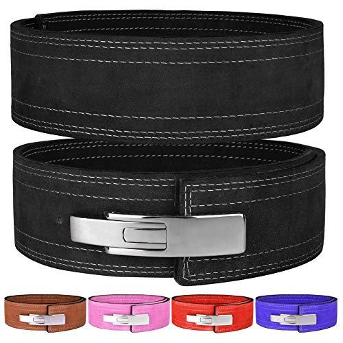 Hawk Sports Lever Belt 10mm Powerlifting Belt for Men & Women Buckle Strongman Power Weight Lifting Weightlifting Belts (Black, M (32'-38'))