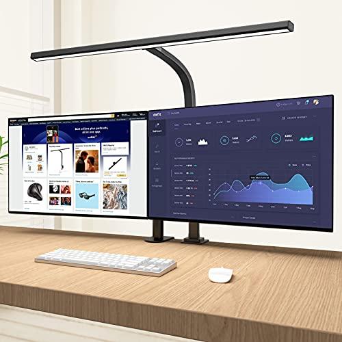 LED Desk Lamp,Eppiebasic Architect Clamp Desk Lamps for Home Office,Brightest Led Workbench Office Lighting- 6 Color Modes and Stepless Dimming Modern Desk Lamp for Monitor Studio Reading 1000LM