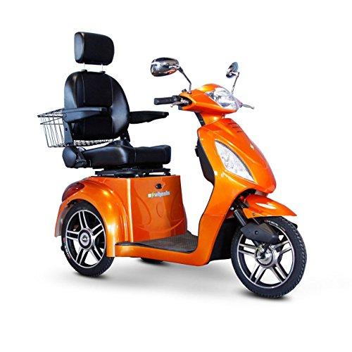 E-Wheels EW-36 3-Wheel Electric Senior Mobility Scooter - Orange