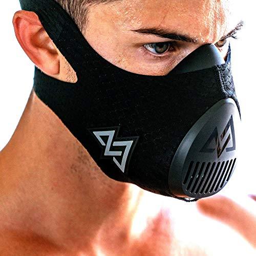TRAININGMASK Training Mask 3.0 | Gym Workout Mask – for Cardio, Running, Endurance and Breathing Performance [Official Training Mask Used by The Pros] (Black, Large)