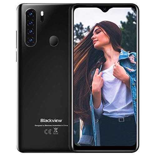 Unlocked Smartphones Blackview A80 Pro - Bundle Android 10 Pie 4GB+64GB ROM, 6.5' HD+ Water Drop Screen,8MP Front Camera + 13MP Quad Rear Camera, 4680mAh Battery 4G Dual SIM AT&T Smartphones