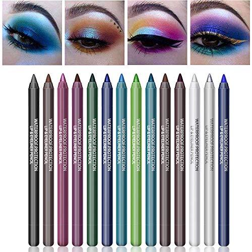 Ownest 14 Colors Eyeliner Pen Set,Pearl Eyeliner Kit Metallic Eyeliner Pencil Glitter Eyeliner for Women Eye Liner Professional Eye Makeup Set Colorful Eyeliner Eye Color