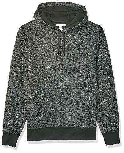 Amazon Essentials Men's Hooded Long-Sleeve Fleece Sweatshirt, Charcoal Space-Dye X-Large