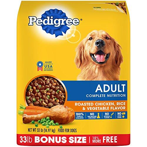Pedigree Complete Nutrition Adult Dry Dog Food Roasted Chicken, Rice & Vegetable Flavor, 33 Lb. Bag