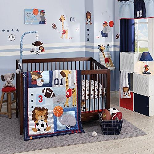 Lambs & Ivy Future All-Star 4Piece Baby Crib Bedding Set