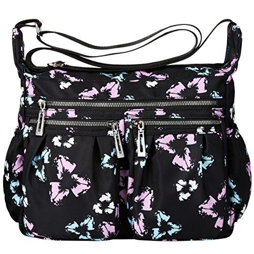 VBG VBIGER Crossbody Bags for Women Shoulder Bag Nylon Travel Purse Waterproof Shoulder Travel Handbags With Adjustable Strap Waterproof