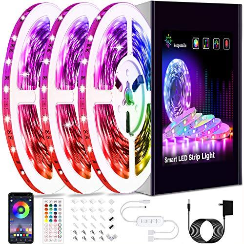 50ft Led Strip Lights, Keepsmile 5050 RGB Color Changing Led Light Strips, Led Lights for Bedroom, Kitchen, Home Decoration